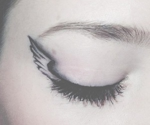 angel, makeup, and angel wing image