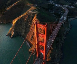 america, golden gate, and place to visit image
