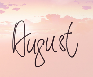 August, months, and summer image