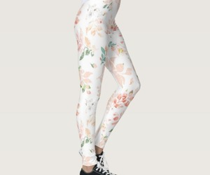 fashion, floral print, and leggings image