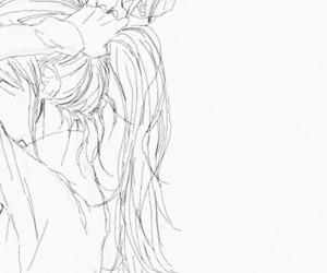 girl, hair, and anime image