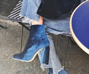blue, boots, and details image