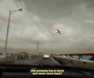 airplane, glitch, and leave image