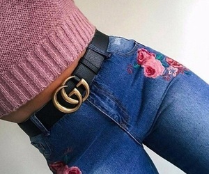 fashion, jeans, and gucci image