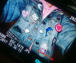 fashion, patches, and unicorn image