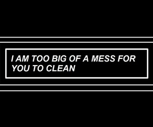 mess, sad, and quotes image
