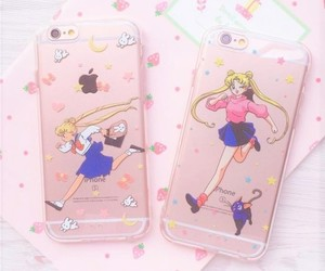 sailor moon, pink, and iphone image
