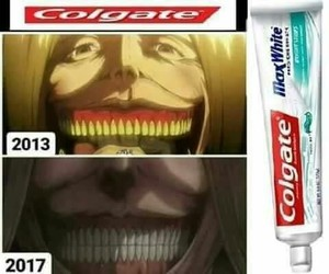 funny, anime funny, and attack on titan image