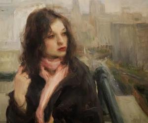 art, woman, and girl image