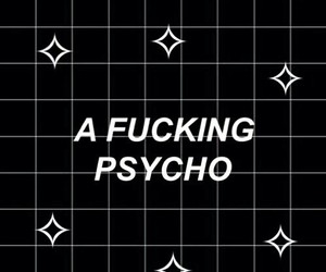 Psycho, wallpaper, and black image