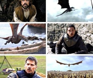 game of thrones, jon snow, and jaime lannister image