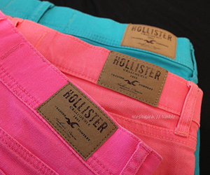 hollister, pink, and blue image