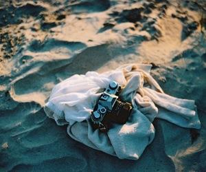 analog, beach, and blue image