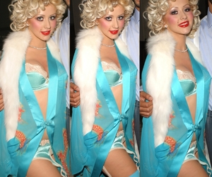 60s, xtina, and blonde image