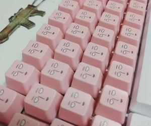 pink and keyboard image