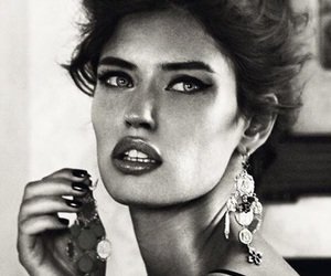 Bianca Balti, model, and black and white image