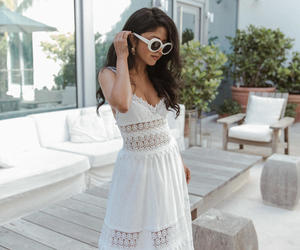 dress, outfit, and sunglasses image