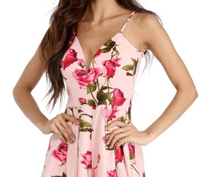 clothes, flowers, and fashion image