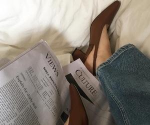 fashion, newspaper, and vintage image