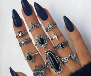 grunge, rings, and nails image