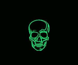 skull, black, and black background image