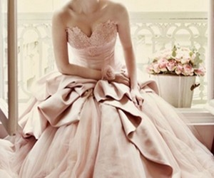 dress, girl, and dusty pink image