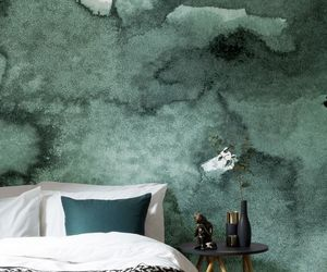bedroom, green, and home image