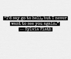 quotes, hell, and sylvia plath image