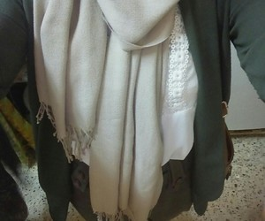 girl, hijab, and style image