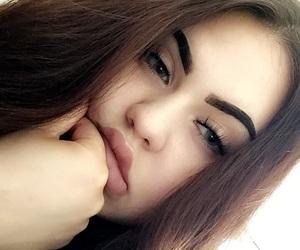 bored, eyelash, and girl image