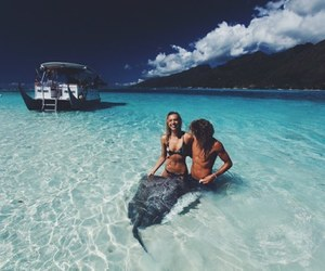 couple, ocean, and summer image