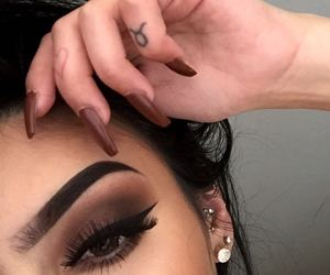 beauty, nails, and eyes image