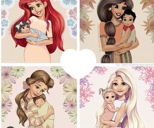 disney, ariel, and jasmine image