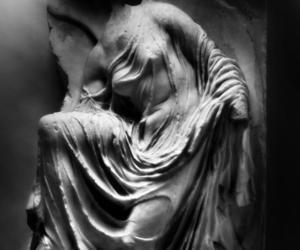 art history, mythology, and black and white photography image
