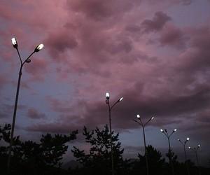 night, purple, and pretty night image