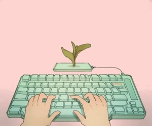 gif, pink, and flowers image