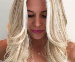 blonde, girl, and hairstyle image