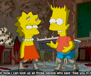 bart simpson, Devil, and lisa simpson image