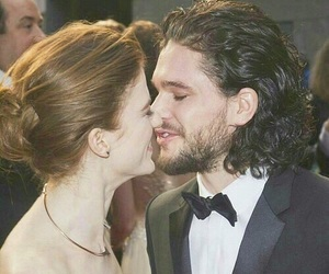rose leslie, game of thrones, and kit harington image