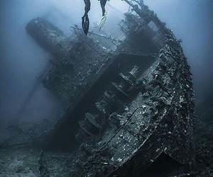 sea, ship, and water image