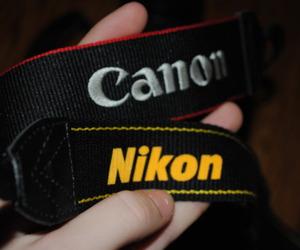 canon, nikon, and photography image