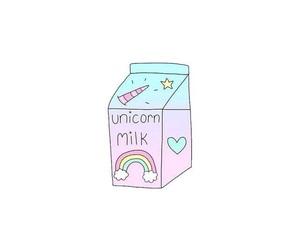 background, kawaii, and rainbow image