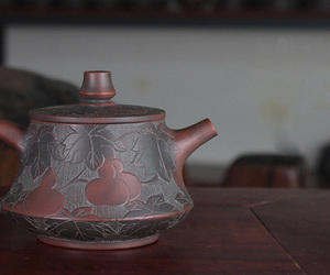 hand painting, teapot, and ceramic teapot image
