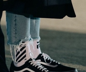vans, style, and socks image