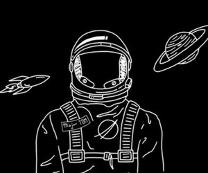space, astronaut, and black image