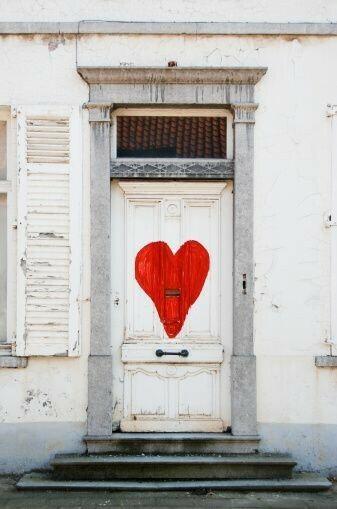 architeture, love, and door image
