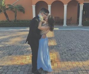 blue, boyfriend, and dress image