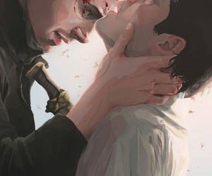 dean, misha collins, and supernatural image