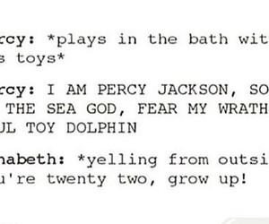 funny, percy jackson, and annabeth chase image