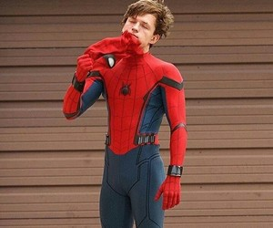 spiderman, tom holland, and cute image